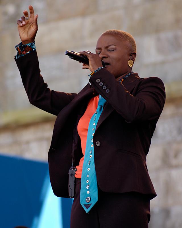 Angelique Kidjo performing at the Newport Jazz Festival