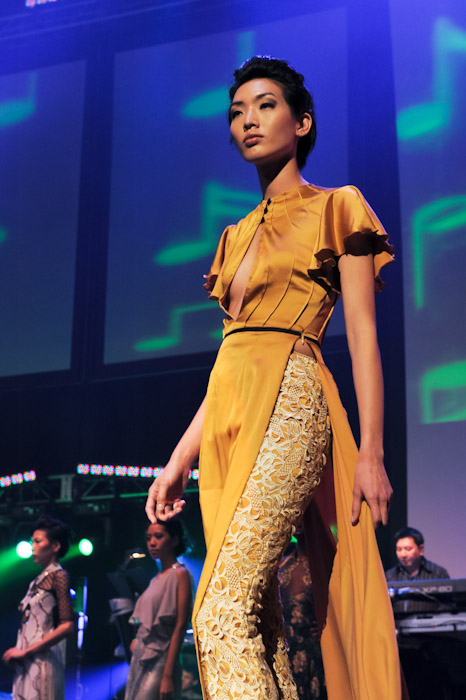 Model wearing Annie Nguyen Fashion