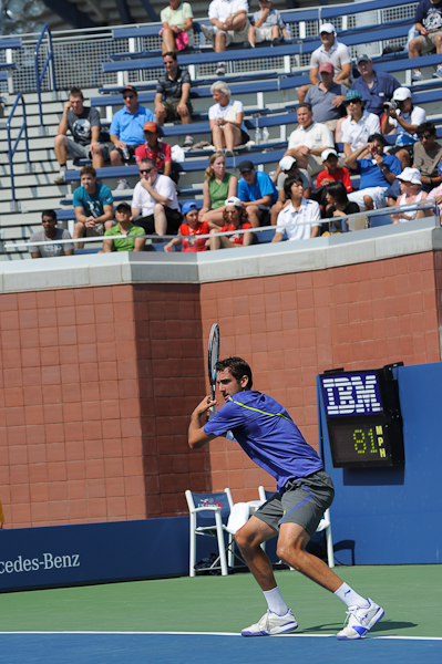 Marin Cilic playing at the US Open on Court 17