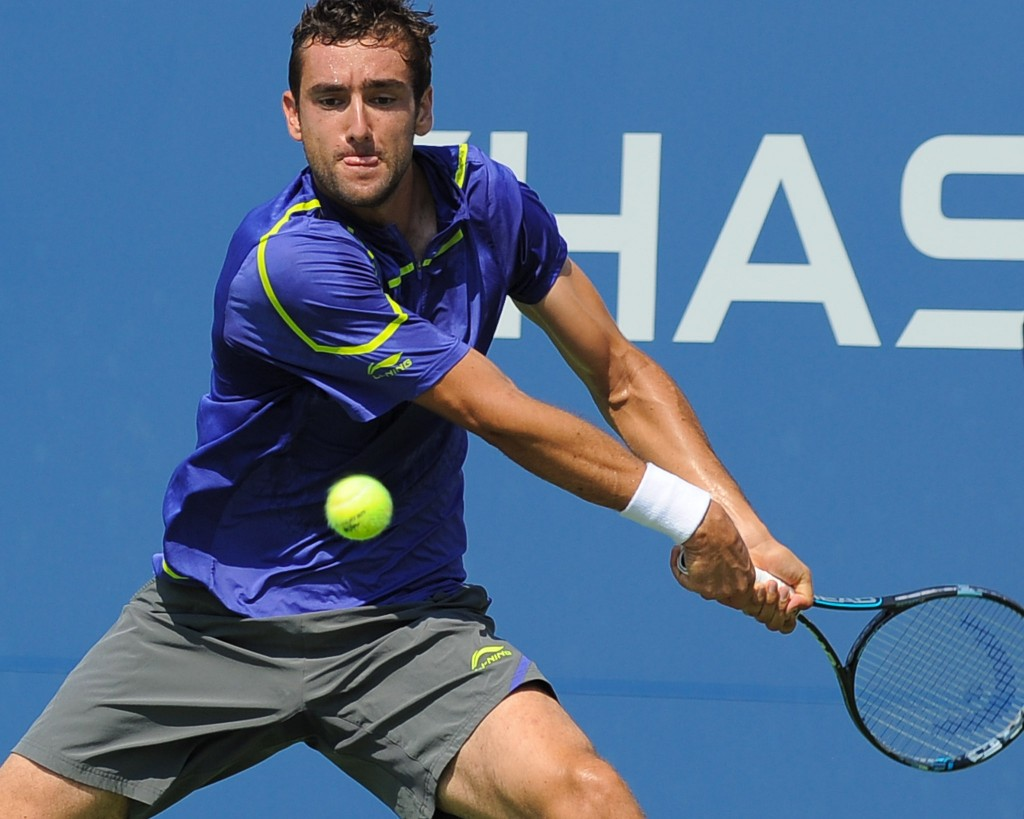 Picture of Marin Čilić playing tennis at the US Open